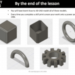 Image showing different CAD exercises to complete
