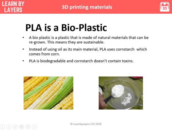 PLA Bio plastic text