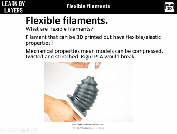 image showing product printed from flexible filament