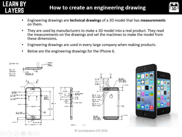 slide explaining what engineering drawings are