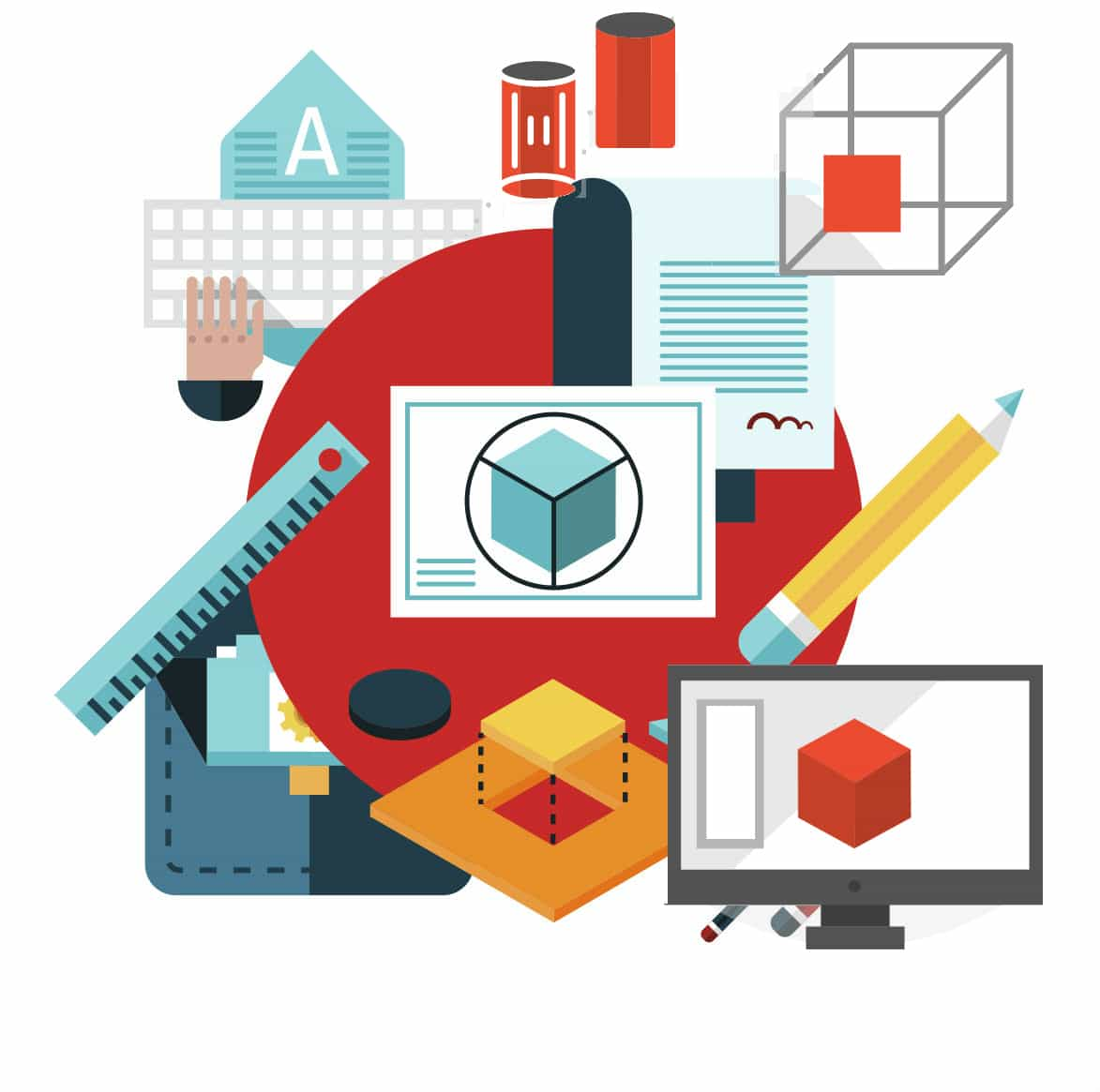 education icons on lesson bundle