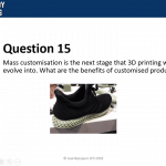 image of 3D printed shoe