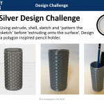 Silver design challenge 3d printed pencil pot