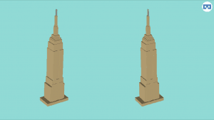 3d slash modelled empire state building