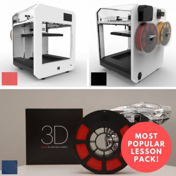 image of 3d printers and filament