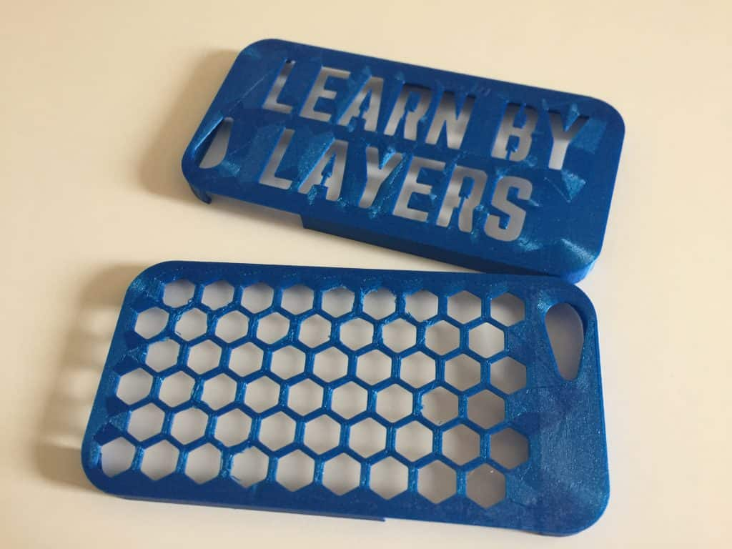 3D PRINTED IPHONE CASES WITH TEXT AND PATTERNS