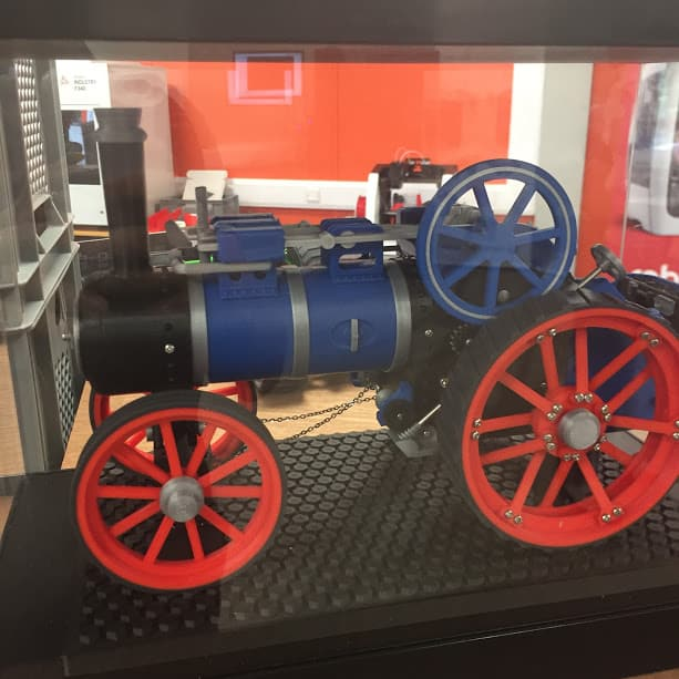 3d printed steam train