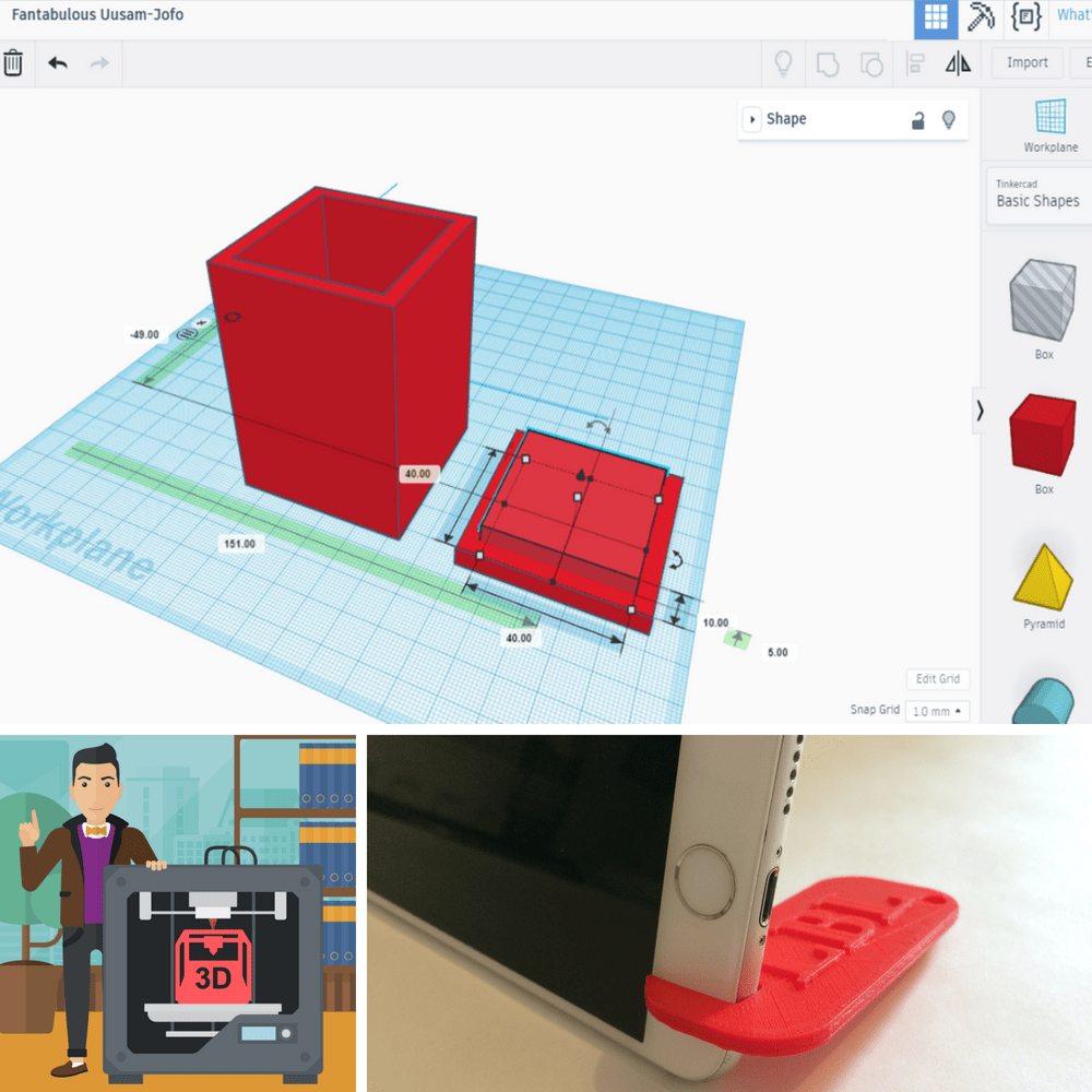 TinkerCAD images