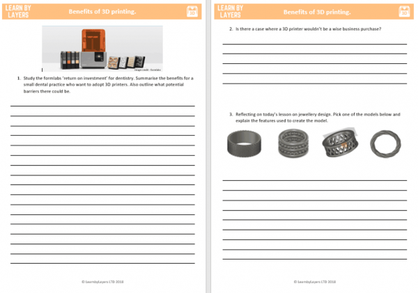homework task 3d printing