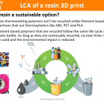 Life cycles assessment of resin 3D printing
