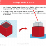 3d model of a box in tinkercad