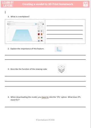 3d printing worksheet