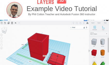 Sample TinkerCAD video tutorial