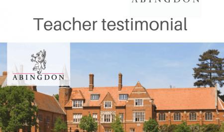 Teacher Testimonial – Dan Hughes Abingdon School
