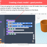 TinkerCad code blocks