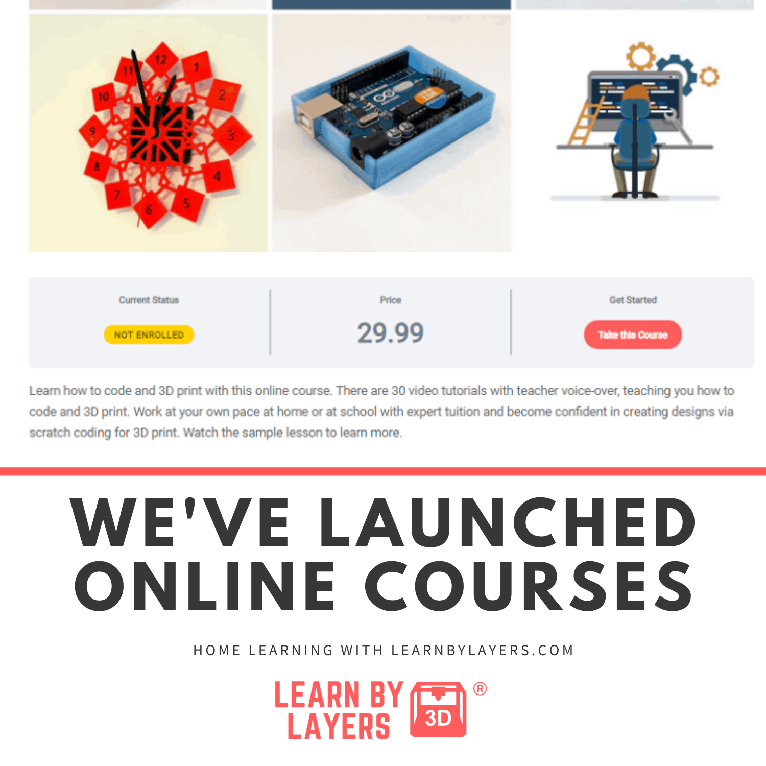 3d printing and coding online courses