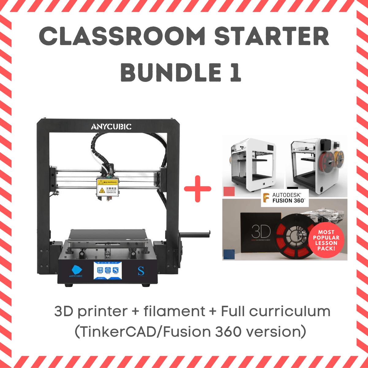 Anycubic i mega 3 S classroom bundle fusion 360