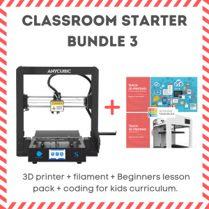 3d printer and coding and curriculum bundle