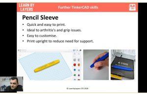 3d printed pencil sleeve