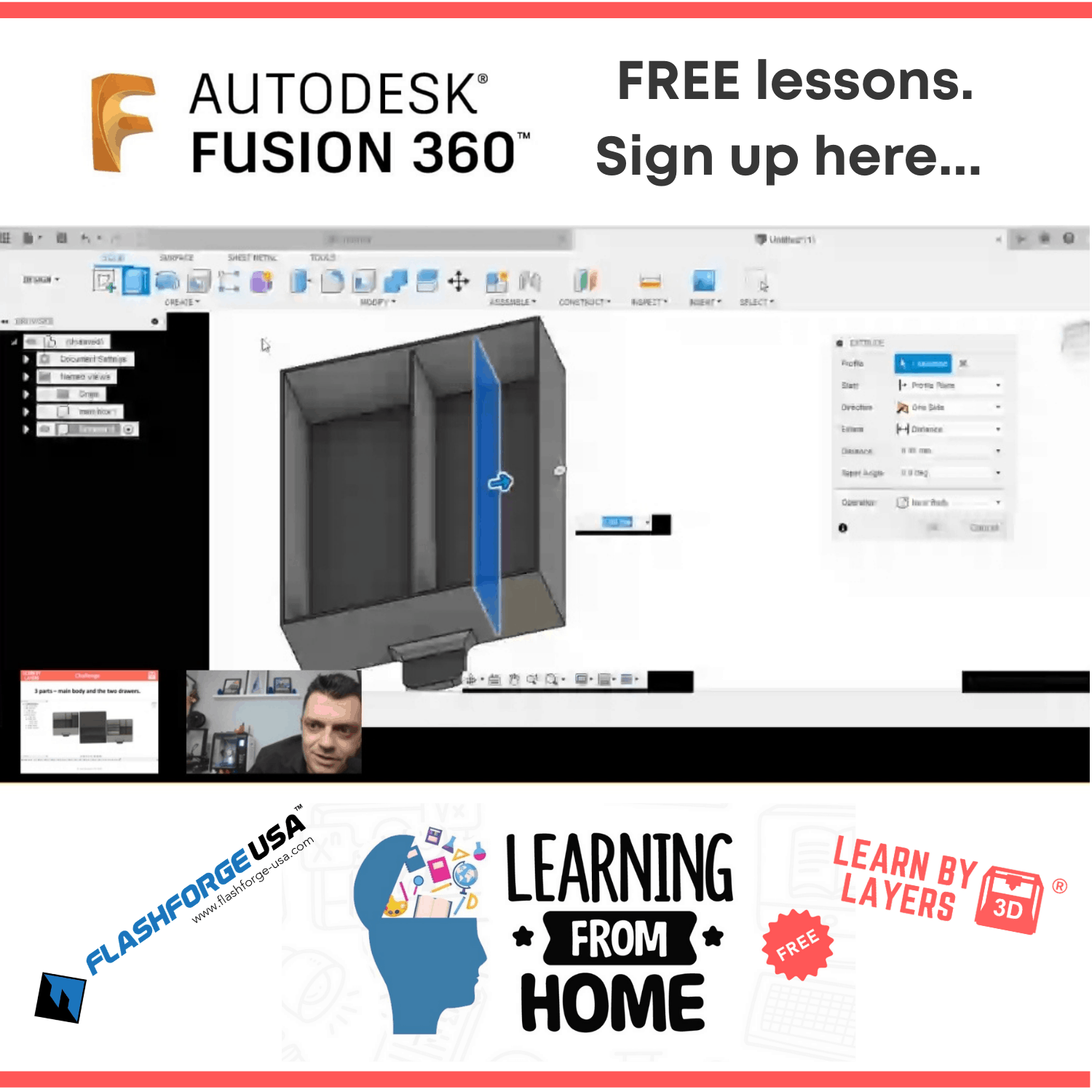 Autodesk Fusion 360 free lessons